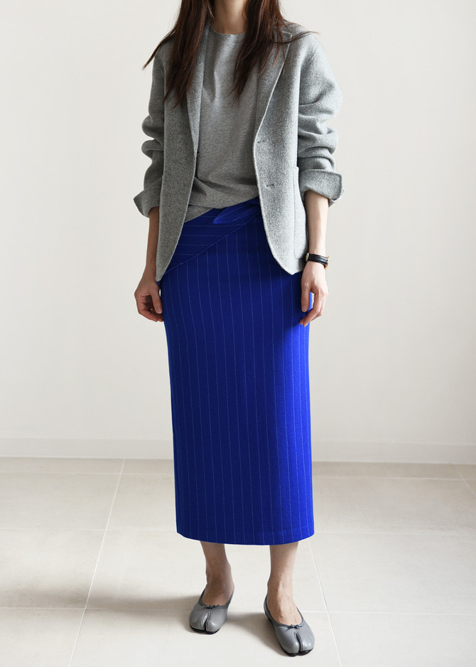 [ROBE] WRAP-TIE MIDI SKIRT