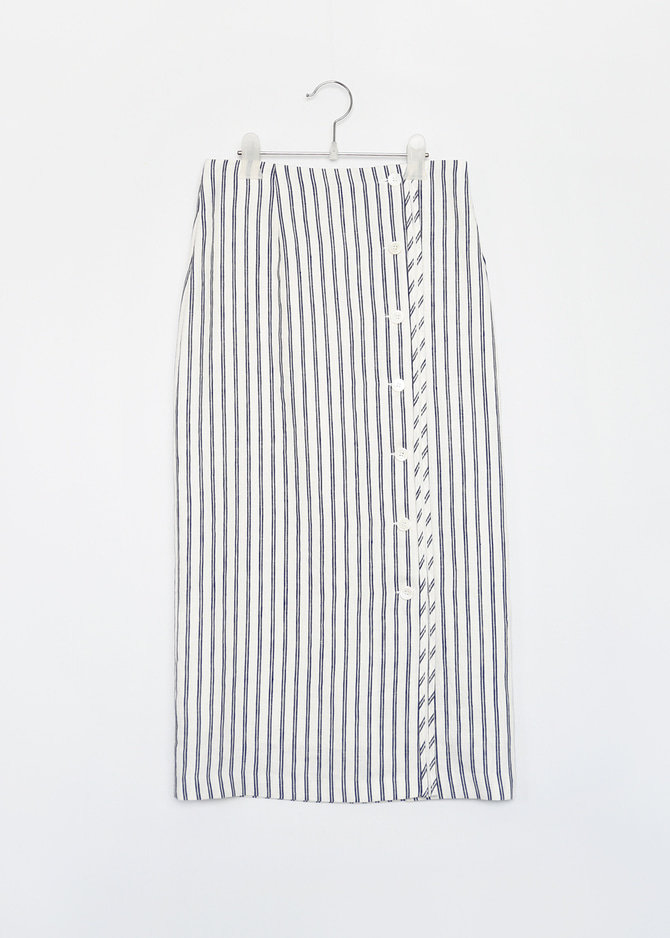 Button down Linen Skirt