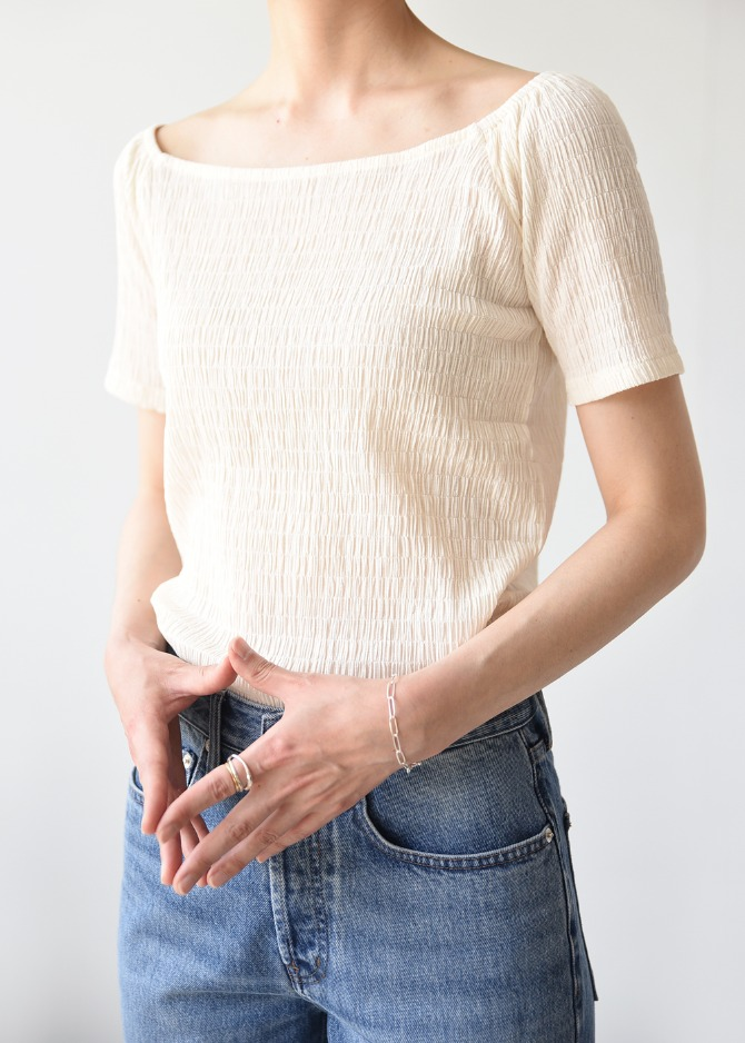 Pleats Off-Shoulder Top