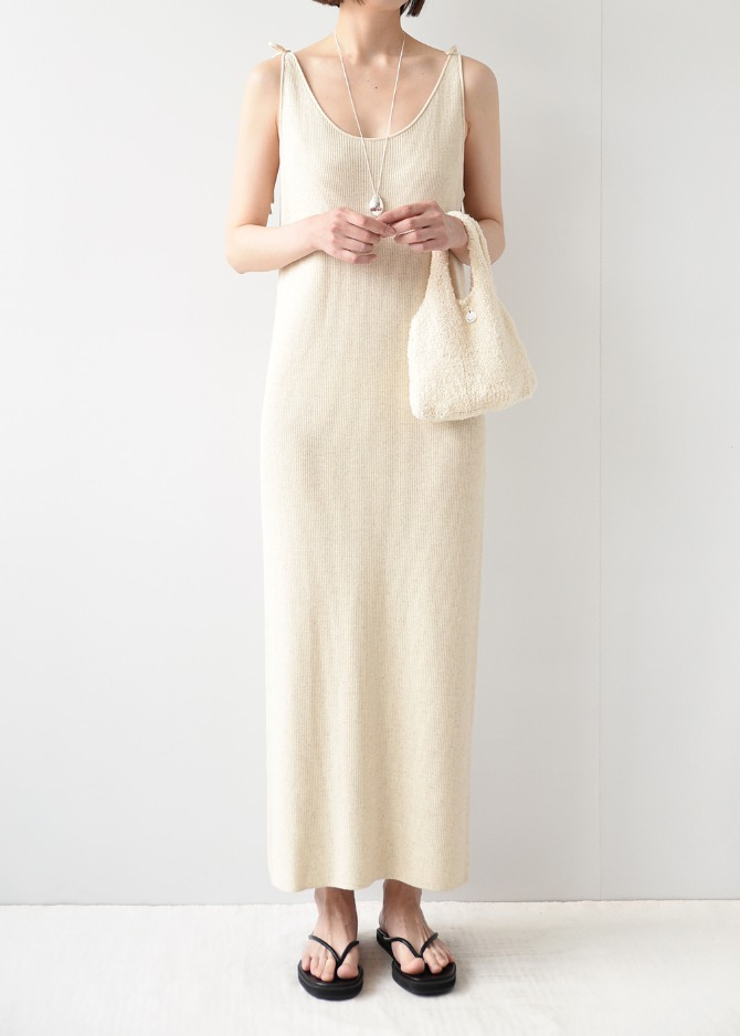Natural Ribbon Dress